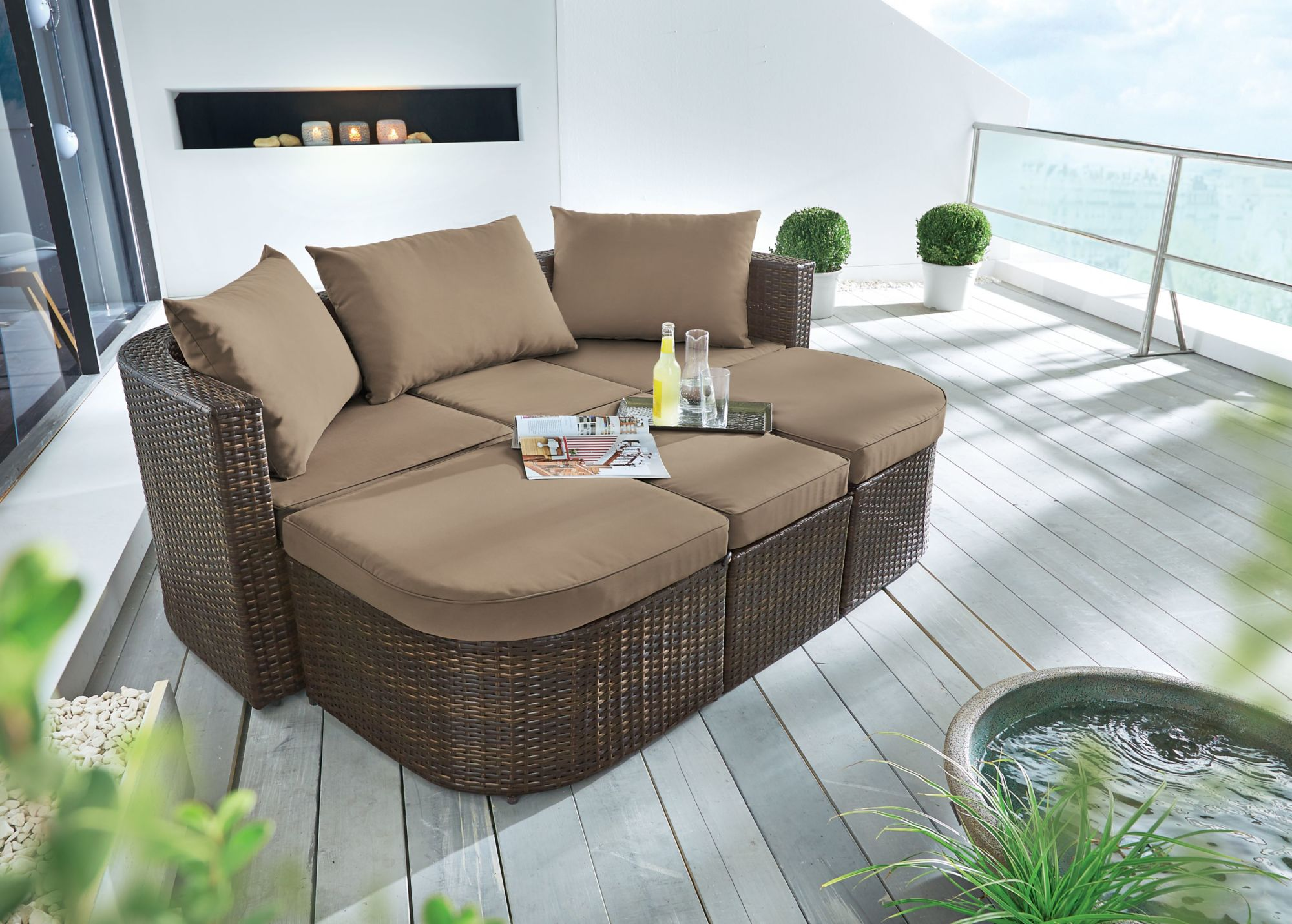 Terrassenmöbel rattan  Gartenmöbel Lounge Set, Outdoor, Sofa | MY LOVELY-HOME | MY LOVELY-HOME
