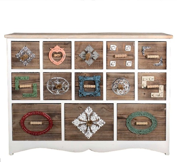 Kommode Vintage Landhausstil Bunt Holz My Lovely Home