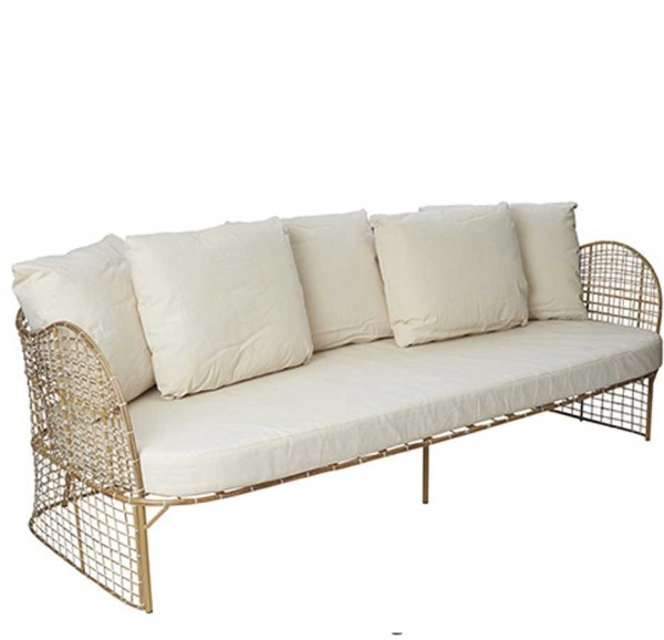Rattan Sofa 3 Sitzer Design Rattan Couch My Lovely Home